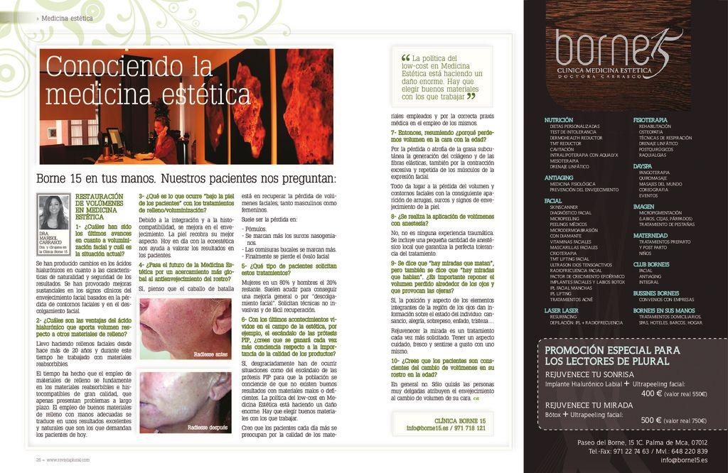 thumbnail of Plural Borne15 2013 07 Julio- Restauración de Volúmenes en Medicina Estética